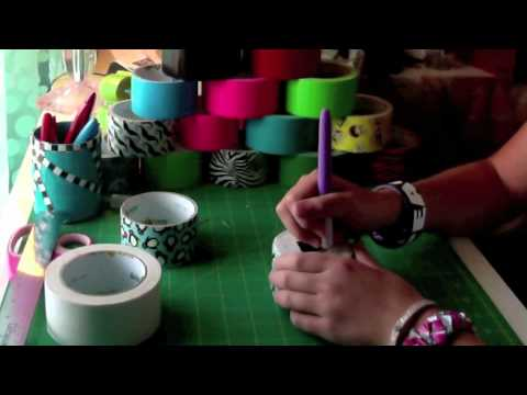 How to Make a Duct Tape Small Coin Bank