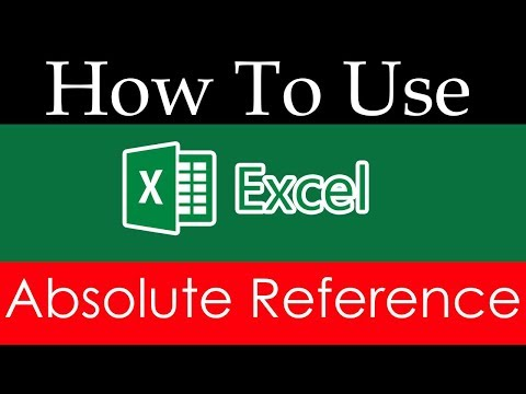 How To Use Excel 2016 Absolute Reference