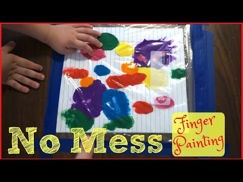 NO MESS FINGER PAINTING!! | Family Friendly Easy DIY Painting!!