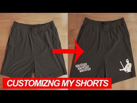 How I customized my shorts | @KenAndrewDaily