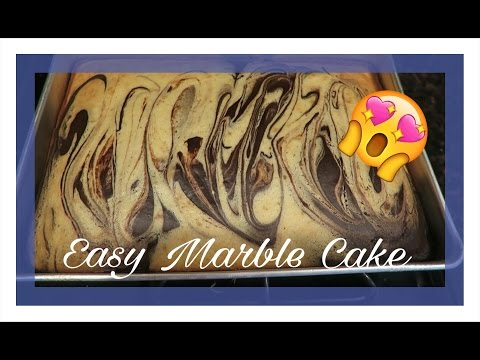 How to Make a Marble Cake | Chocolate & Vanilla Cake Recipe | Easy Cake Tutorial for Beginners