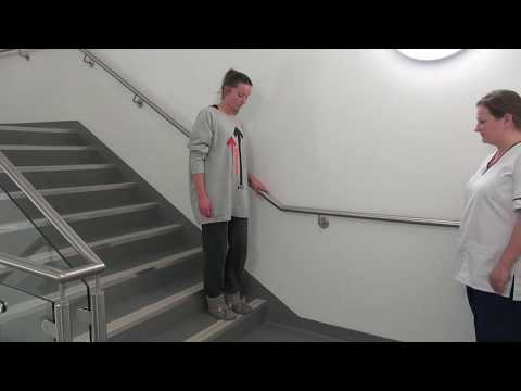 How to climb stairs after DIEP surgery
