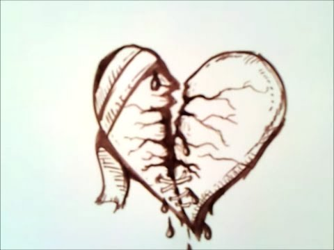 how to draw a broken heart | step by step | easy
