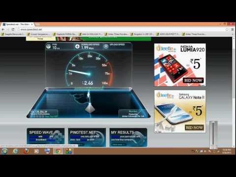 Reliance Broadband Speedtest Review.