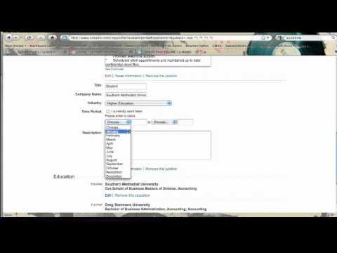 LinkedIn Tutorial - Uploading A Resume