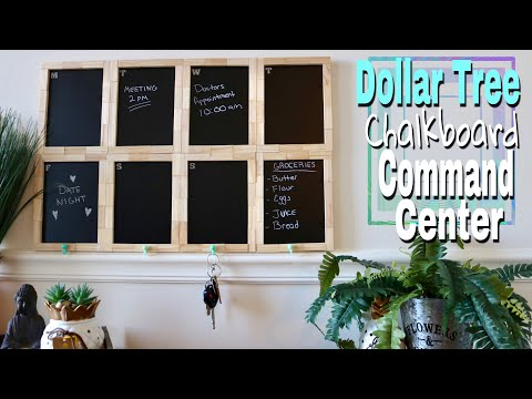 Dollar Tree DIY chalkboard Command Center- schedule board