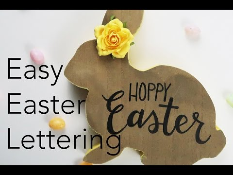 Easy Easter Lettering How To | Marvy Uchida