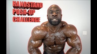 """HAND-STAND """"PUSH UP"""" CHALLENGE - Kali Muscle"""