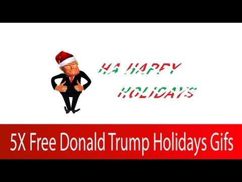 Free Donald Trump Holiday Animated GIFS