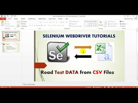 Read test data from a csv file using selenium webdriver