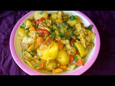 Easy Curry potato recipe: How to make easy Chicken and curry potato Recipe