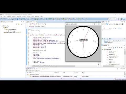 Analog Clock  GUI Java
