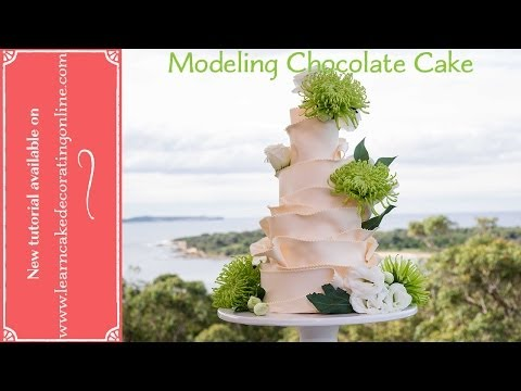 How to make a  Modeling Chocolate wedding cake with Learn Cake Decorating Online