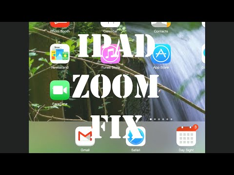How to fix an iPad where the Home Screen is Zoomed In