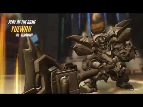 Overwatch - Play of the Game - YUEWAH - Reinhardt QuadKill