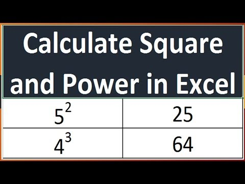 Calculate Square of a Number - Calculate Power of any Number in Excel