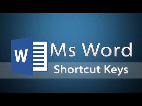 Microsoft Word - How To Open Ms Document - shortcut Keys