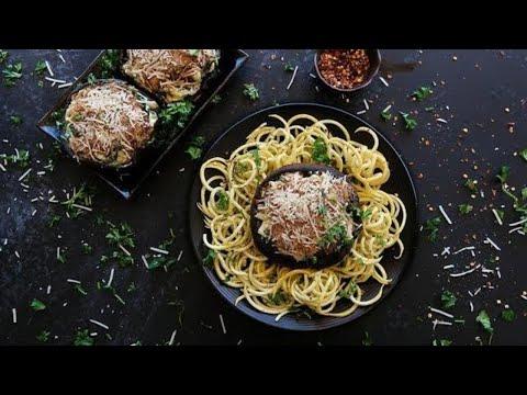 Keto Recipe - Artichoke Stuffed Portobello Mushrooms
