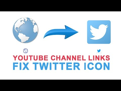 Fix Twitter Icon On Youtube Channel