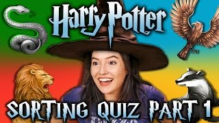HARRY POTTER SORTING QUIZ - HOGWARTS HOUSES (React Special)