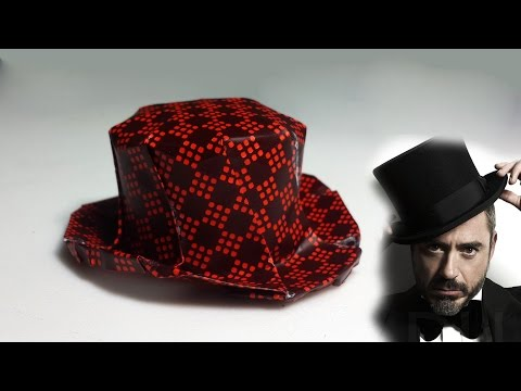 Paper Hat - Origami Top Hat tutorial - DIY (Henry Phạm)