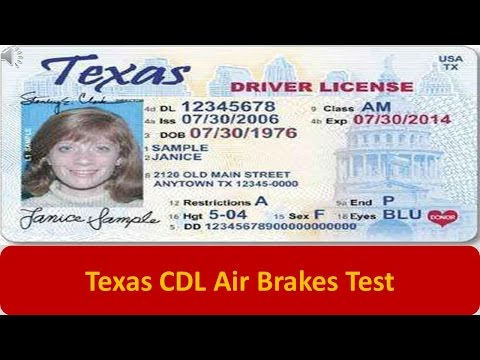 Texas CDL Air Brakes Test