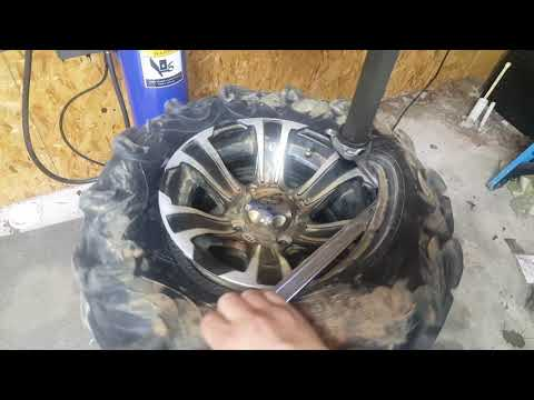 Changing atv tire with ebay chinese tire machine