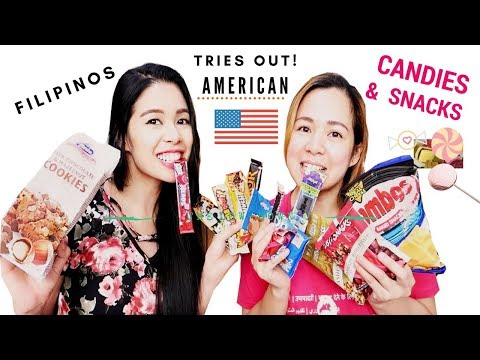 Filipinos Eating/Trying American Snacks & Candies