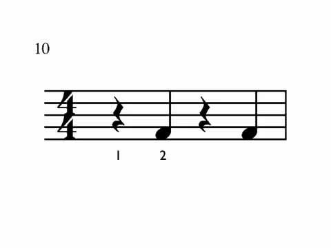 Quarter Note-Rest Counting Drill