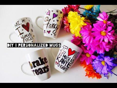 DIY  (Valentine's Day) Personalized Coffee Mugs