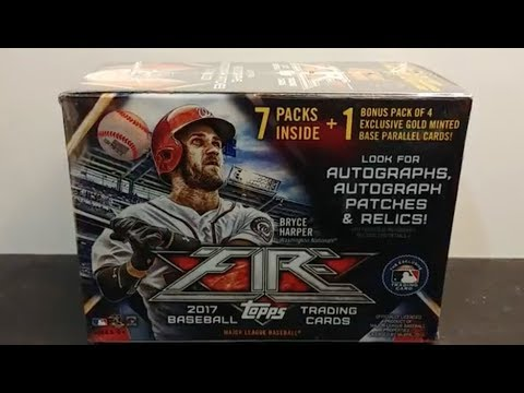 1/1!   2017 Topps Fire Baseball cards retail blaster box break and review