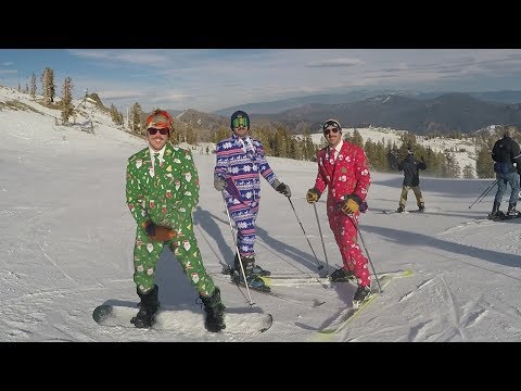 Christmas Guys Ski Squaw Valley - Lake Tahoe (Top to Bottom)