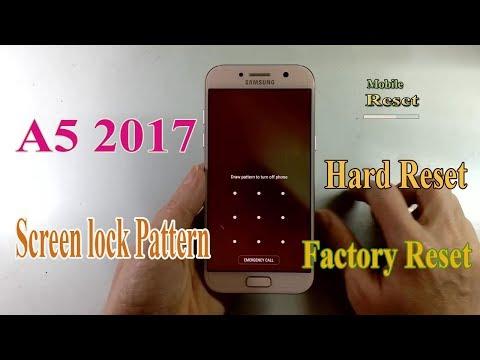 Hard Reset Galaxy A5 2017 Bypass Screen lock Pattern.