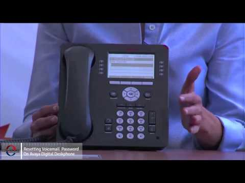 How to Reset Voicemail Password on an Avaya Phone