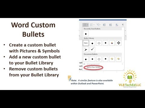 Word - Creating and Using Custom Bullets