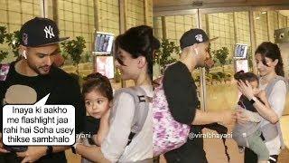 Kunal Khemu SH0UTS On Wife Soha Ali Khan As Media Flashing Camera Light On Daughter Inaya Khemu