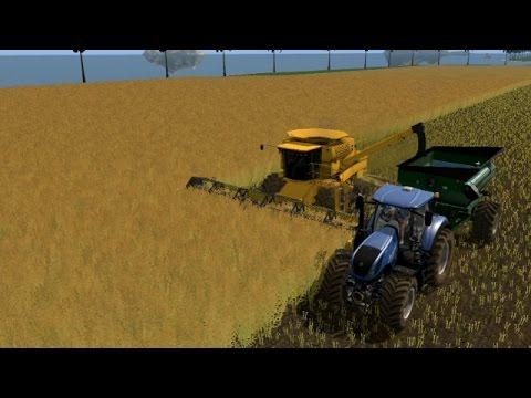 Farming simulator 17 - Harvesting (1.4 million liters) canola on lost islands map.