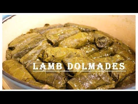 Lamb Dolmades: Lamb and Rice Stuffed Grape Leaves