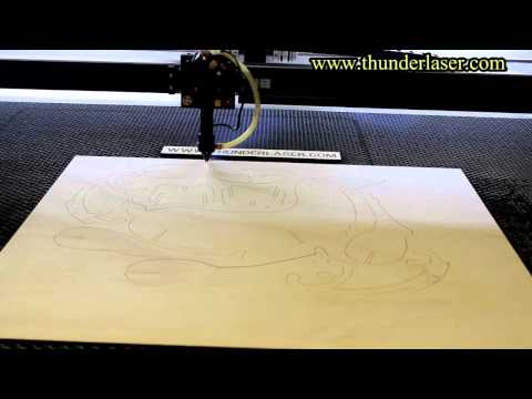 laser cutter- cutting a deer