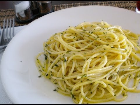 Lazy Man's Pasta Olive Oil - Budget Recipe.