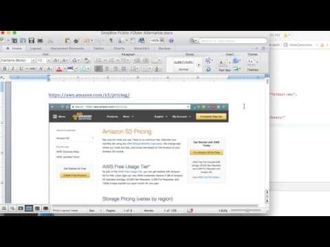 Dropbox Public Folder Alternative - AWS