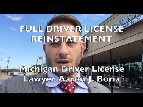 Michigan Driver License Reinstated - Driver License Lawyer
