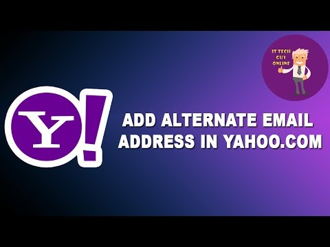How to add Alternate Email address in Yahoo