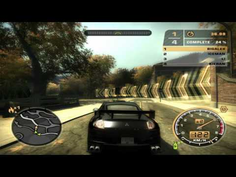 Need for Speed Most Wanted Car Test - Mitsubishi Eclipse GT