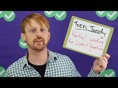 TOEFL Tuesday: Partial grading for 2-point questions