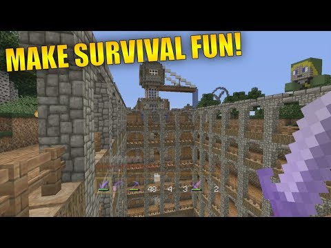 How To Make Minecraft Survival More Fun! Minecraft Console Survival