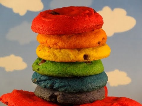 Rainbow Chocolate Chip Cookies- with yoyomax12 (Collab with How To Cook That)
