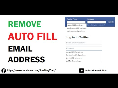 Remove Auto fill Email Address history