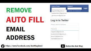 How to delete email address from facebook login screen music jinni remove auto fill email address history ccuart Image collections