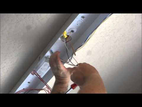 Installing fluorescent lights in Garage /  Shop